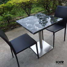 solid surface table eating tables and chairs from China