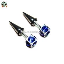 Dreamlike Blue stone ear stud brightness pointed ear piercing jewellery