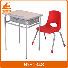 Wooden student bench school desk and chair