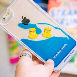 I5 Liqiud Duck Case Cover Floating Yellow Rubber Bath Duck Case Cover For iPhone 5s iPhone 5