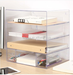 Transparent combination of multi document holder office desktop a4 document file Magazine Holder