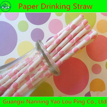 Whosale Bar Accessories Colorful Plastic Type Wedding Party Paper Drinking Straws