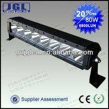 Lightstorm new single row 80w 12v offroad led light bar for 4wd