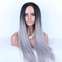 Silky Straight 5a grade with baby hair lace front wig cheap brazilian human hair grey lace front wig