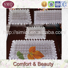 embroidery with lace tablerunner rug runner jute table