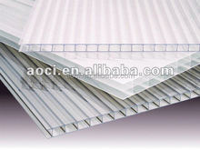 twin-layer UV-protected polycarbonate sheet plastic panel