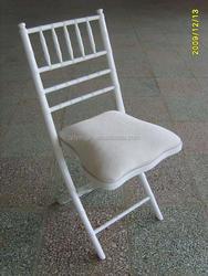 White Wooden Folding Chiavari Chair/Wholesale Wedding Chairs