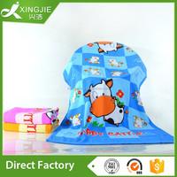 Colorful reactive animal printed bath towel wash towel baby towel