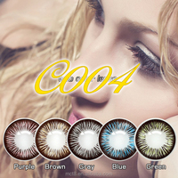 opaque one year disposable color contact lens