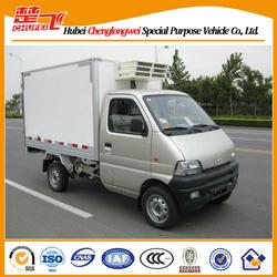 Changan 4*2 gasoline engine mini cooling van, refrigerated van