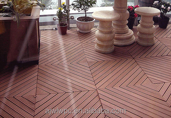 2015 Wood Plastic Composite Interlocking Outdoor Deck