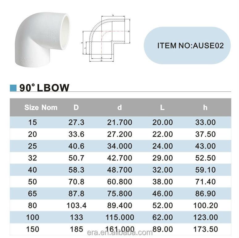 era watermark as nzs1477 standard pvc pipe fitting 90 degree elbow buy pvc elbow watermark. Black Bedroom Furniture Sets. Home Design Ideas