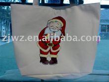 handle canvas shopping bag for Xmas