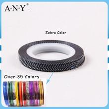 ANY Nail Beauty Curing DIY Nail Art Zebra Nail Decorative Tape Mix Color