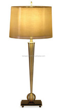 high quality iron desk light with a smooth gold shade sleek design rich color scheme and antique brass finish for hotel or home