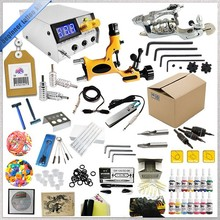 Professional Complete 2 tattoo guns Tattoo kit with inks, power supply for Beginer.