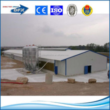 prefabricated structural steel broiler poultry farm house design