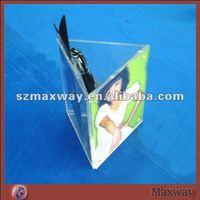 Triangular Acrylic Countertop Pen Holder with Photo Frame