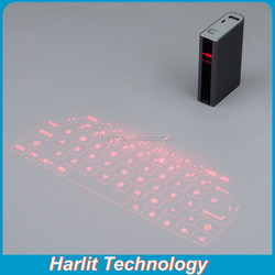 Virtual Laser Projection Bluetooth Keyboard with 5200mAh Power Bank Universal Keyboard