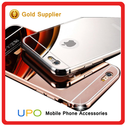 [UPO] New Arrival Luxury Aluminum Metal Bumper PC Back Cover Mirror Best Cases for iPhone 6