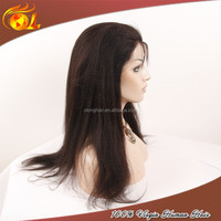 New products 6A human hair kinky straight lace wig