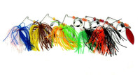 Wholesale lead jig spinner baits 14g/0.49oz trolling lure skirts sabiki jigs with double willow blades