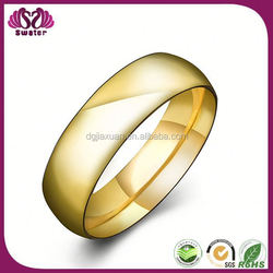 Latest Model Fashion Gold Plated Ring Wide Gold Rings