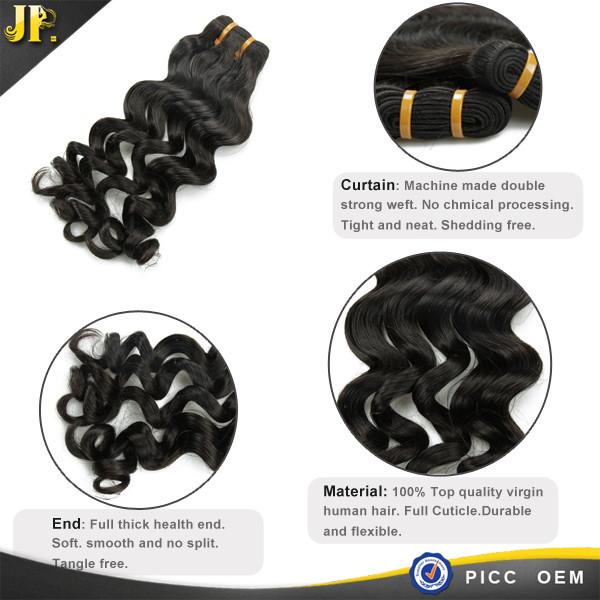 Nouvelle arrivée cheveux faisceau lâche corps vague guangzhou cheveux extension usine