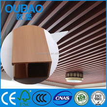 formaldehyde free wood plastic composite WPC panel for led lighting house ceiling tile polyurethane
