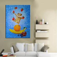 Artesanal de alta qualidade rato animais retrato da parede pintura a óleo decor para cozinha