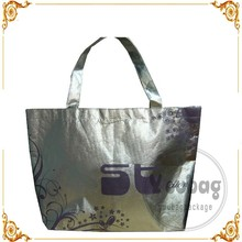 100% recycled bottle RPET shopping bag tote nonwoven laminated bag,laminated RPET non woven bag