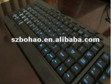 2012 new keyboard with el light,EL lighting keyboard hot sell for computer/laptop