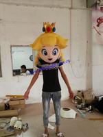 Custom head for peach mascot costume