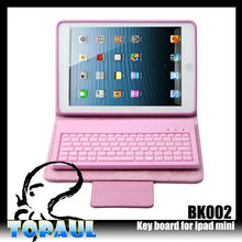 Soft with stander bluetooth keyboard leather case for laptop keyboard