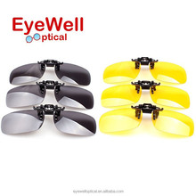 Hight quality clip on sunglasses, driving eyewear, night vision goggles (TJ6008)