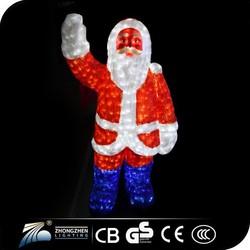 Outdoor christmas decoration giant inflatable , lighting christmas santa