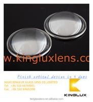 led corn light lens 34mm diameter High power 1w led optical glass lenses