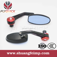 SF114 classic motorcycle side mirror or motorcycle parts with gold blue red color form china supplier