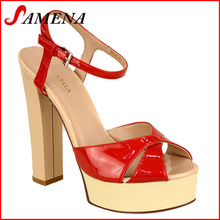 Girls summer shoes ladies high heel platform sandals