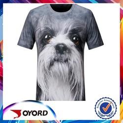 white black free design wholesale 3d dog t shirt