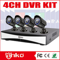 720P AHD 4Ch Network Video Recorder with 4Bullet cameras