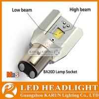 BA20D COB LED Headlight for Motorcycle KR-M2S H4 BA20D lamp sockets