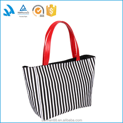 Top quality custom logo printed canvas tote shopping bag in high level for ladies