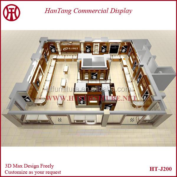 Professioanl Modern Jewelry Shop Interior Design With 3d