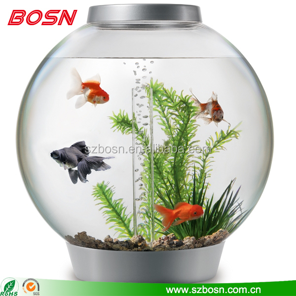 Acrylic Fish Tank; Home Decoration Acrylic Cylindrical Fish Aquarium ...