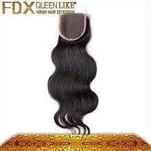Wholesale Human Hair Body Wave Lace Front Closure Brazilian Virgin Hair 4*4 Lace Top Closure Body Wave Toupee