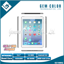 10.1inch tablet pc with Quad-Core 1.2GHz, Bluetooth, 3G, GPS, FM