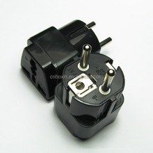 Promotional gift 2015 uk to schuko adapter plug CE