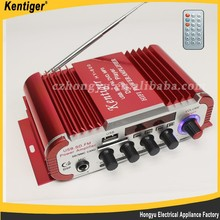 Aluminum Hi Fi power amplifier 2.0 Channels 15W+15W 12V 5A Bluetooth power car amplifier