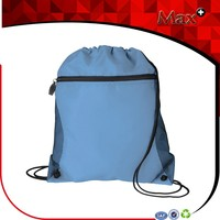 Max+ Wholesale Cheap Nylon Mesh Drawstring Bag Portable and Customized Nylon Drawstring Bag With Outside Pocket